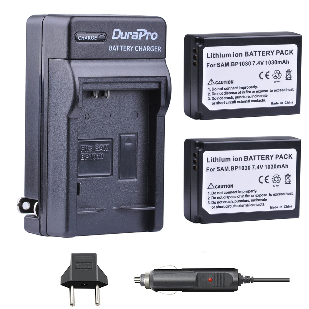 2pc 1030mAH BP-1030 BP 1030 Rechargeable Camera Battery + Car <font><b>Charger</b></font> For <font><b>Samsung</b></font> NX200 NX210 NX300 NX500 <font><b>NX1000</b></font> NX1100 NX-300M image