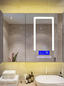 Mirror-Surface Music-System Touch-Sensor-Switch Radio Date-Display Bathroom Bluetooth-Play