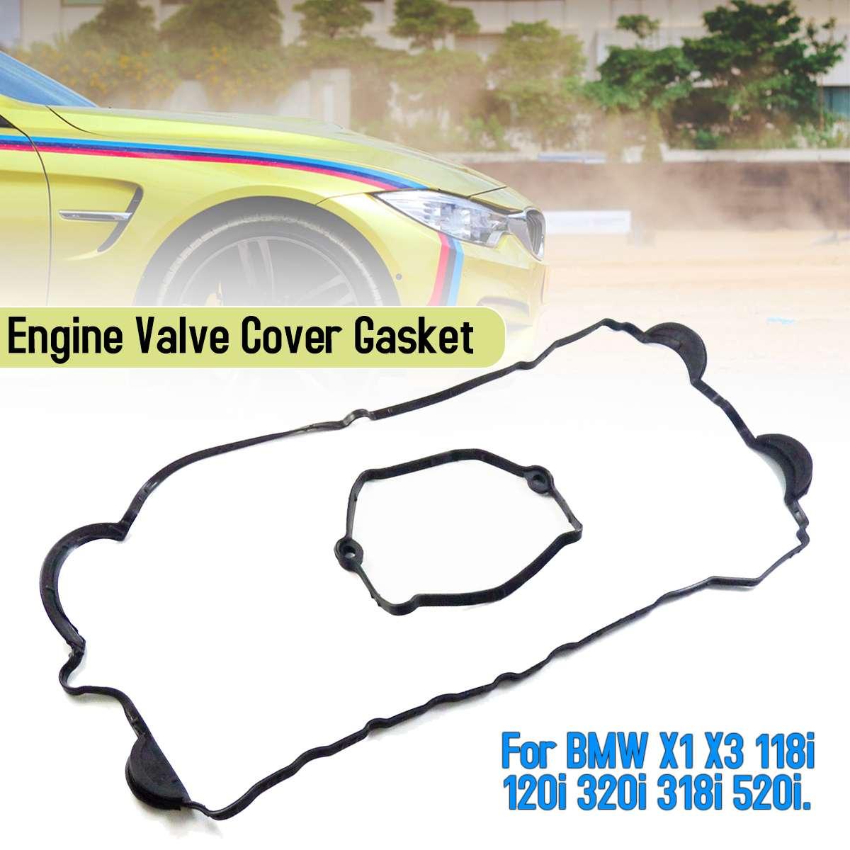 Engine Valuve Cover Gasket For BMW Car X1 X3 118i 120i 320i 318i 520i 11120035738 Auto Replacement Parts Black ACM Rubber