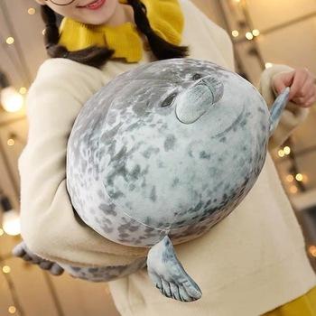 Seal Pillow śliczne Sea Lion pluszowe zabawki 3D nowość poduszki Soft Seal pluszowe wypełnione pluszowe parapetówkę Party poduszka tanie i dobre opinie Pościel Other