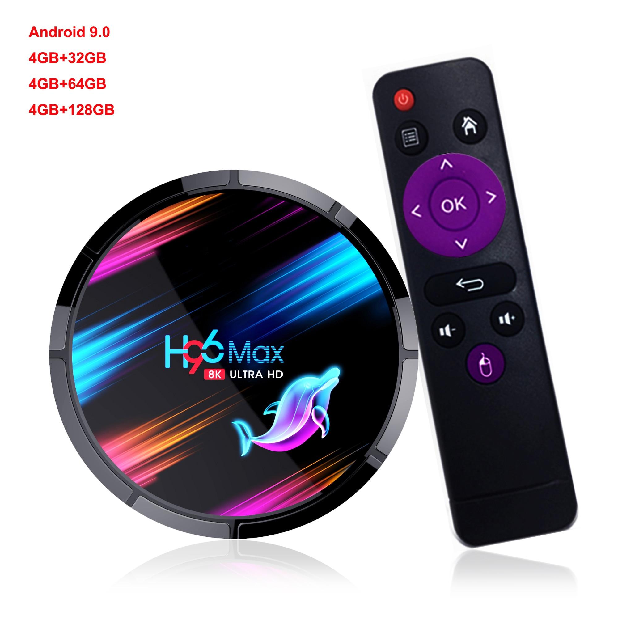 New Amlogic S905X3 Quad Core Android 9.0 Smart TV Box Support USB WIFI Bluetooth