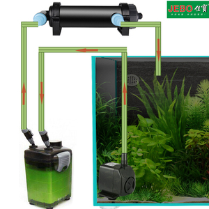 Image 5 - JEBO 220~240V 5W~36W UV Sterilizer Lamp Light Water Cleaner For Aquarium Pond Fish Tank Ultraviolet Filter Clarifier