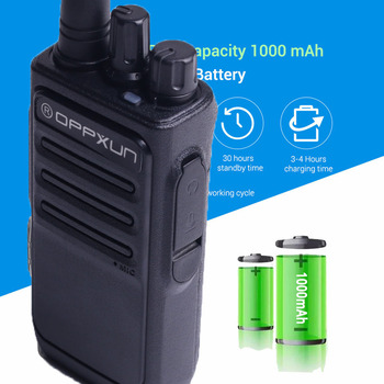 OPPXUN OPX-338 Walkie Talkie UHF 400-470 MHZ Portable Ham Radio Station 8W Long Range for Hunting Telsiz Two Way Car Cb Radio 2