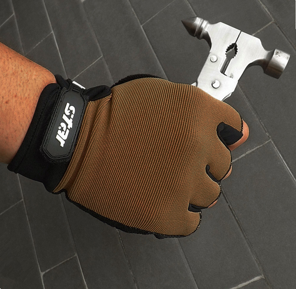 Gloves Men Antiskid Cycling Bike Gym Fitness Sports Half Finger Gloves Invisible Easy-pull Grove Dropship #YL5