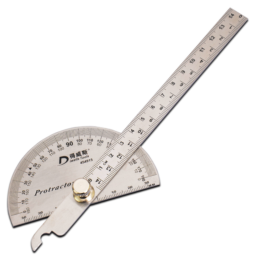 To Wiese Tool Angle Ruler Protractor Angle Measurement Woodworking Indexing Gauge Stainless Angle Square