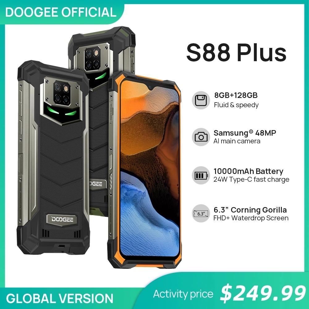 DOOGEE S88 плюс прочный смартфон 48MP основной Камера 8 Гб Оперативная память 128 Гб Встроенная память IP68/IP69K Смартфон Android 10 OS глобальная версия