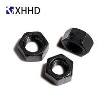Hex Nut Metric Thread Hexagon Nut Fastener Hardware M2 M2.5 M3 M4 M5 M6 M8 M10 M12 Black Steel metric thread din934 m2 m2 5 m3 m4 m5 m6 m8 m10 m12 black grade 8 8 carbon steel hex nut hexagon nut screw nut a2 brand new