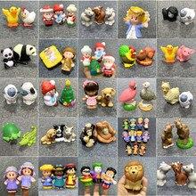 Bixe fisher lote pouco 2 polegada mini pessoas fazenda zoológico animal dos desenhos animados figuras de ação brinquedos presente natal