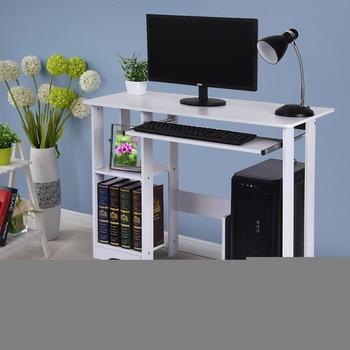 Desktop Home Computer Desk - Small White Computer Desk with Drawers and Printer Shelves - Modern Minimalist Desk Creative Desk