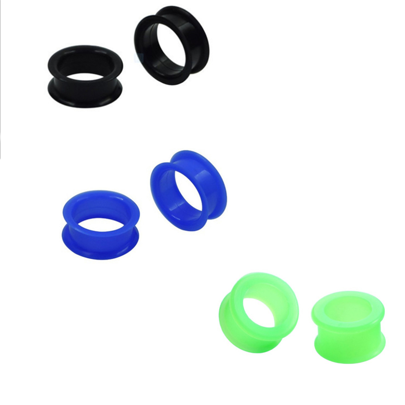 Silicone 6pc 3Color Rook Piercing Punk Expansion Gauge Ear Plug tunnel Fashion Tunnel Stretcher Expander Sexy body jewelry Gift image