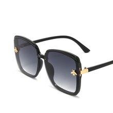 Новинка 2020 женские солнцезащитные очки asouz с маленькой Пчелкой