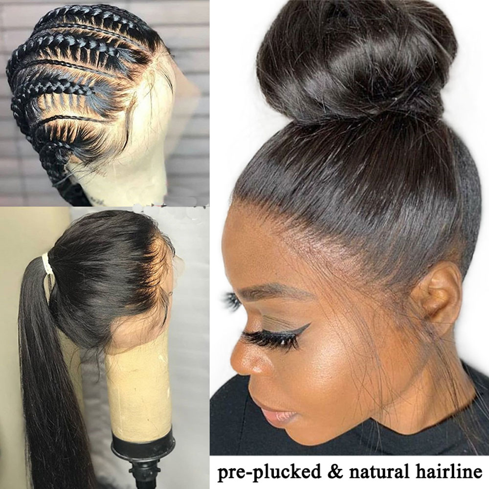Sapphire Straight Peruvian Lace Wig Full Lace Wig Pre Plucked Full Lace Human Hair Wigs Natural Hairline With Baby Hair