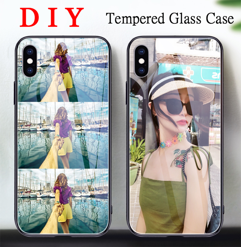 Customized Tempered <font><b>Glass</b></font> <font><b>Case</b></font> For <font><b>Samsung</b></font> <font><b>Galaxy</b></font> A10 S A20S A30 A40 S A50 A70 A80 <font><b>M20</b></font> M30 S8 S9 S10 plus S11 Cover Name Photo image