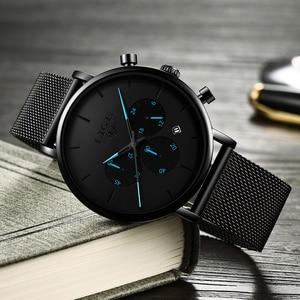 Image 4 - 2019 LIGE New Mens Watches Casual Fashion Watch For Men Sport Mesh Belt Date Watch Waterproof Quartz Clock Relogio Masculino+Box