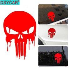 цена на DSYCAR 3Pcs Skull Decal Reflective Skeleton Vinyl Car Stickers Decals Vehicle Styling Removable Waterproof Sticker Funny