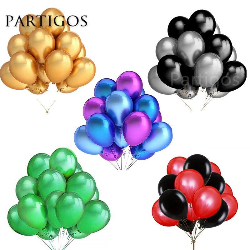 30 pçs/lote 2.2g 10 polegada Pérola Ouro Prata Preto Aniversário Festa de Casamento Decoração Balões De Látex Hélio Globos de Ar Crianças presentes Suprimentos