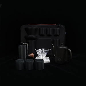 Image 5 - Timemore Portable package Manual drip coffee maker Gift box set Outing portable brew coffee pot Mini coffee grinder percolator