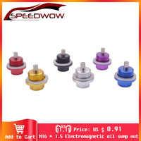 SPEEDWOW M16 * 1,5 tuerca del colector del aceite magnético tapón de aceite tornillo de drenaje de aceite tapón de aceite tuerca pernos de carreras
