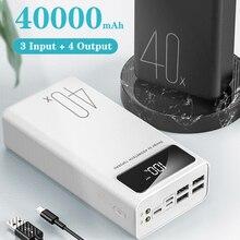 4USB LED Power Bank 40000mAh Portable Charger Poverbank Batt