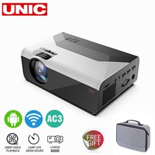 UNIC G08 1280 * 720 Full HD Smart Android Wifi support AC3 150inch LED Video Projector