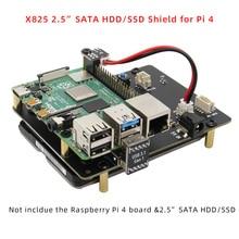Raspberry Pi 4 SATA, carte dextension de stockage pour Raspberry Pi 4 modèle B, 2.5 pouces, disque dur SATA/SSD, X825 V1.5