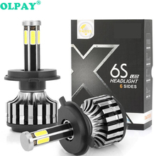 цена на 2PCS H7 LED H3 H1 H4 H11 H8 H9 H13 9005 9006 9007 881 Car Led Headlight Kit 60W 12000LM Auto Headlamp Fog Light Bulbs3000K 6000K