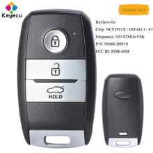 KEYECU Keyless Go Smart Remote Control Car Key With 3 Buttons 433.92MHz ID47   FOB for Kia Sportage 2019 2020 PN: 95440 D9510