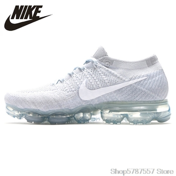 цена на Nike Air Vapormax Flyknit Original New Arrival Men Running Shoes Breathable Non-slip Shock Absorbing Outdoor Sneakers#849558-006