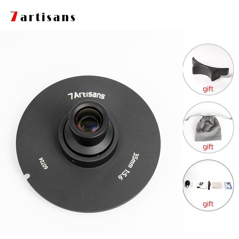 7 artisans 35 мм F5.6 широкоугольный объектив с широкой диафрагмой и E-mount DSLR камер полнокадрового антенна объектив геодезическая и картографическа...