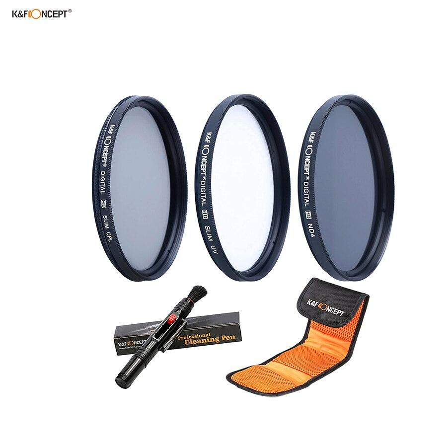 K F Concept 3pcs 72mm Nd Uv Cpl Filter Set Filter Pouch Tas Kamera Lens Filter Filter Pouchfilter Set Aliexpress