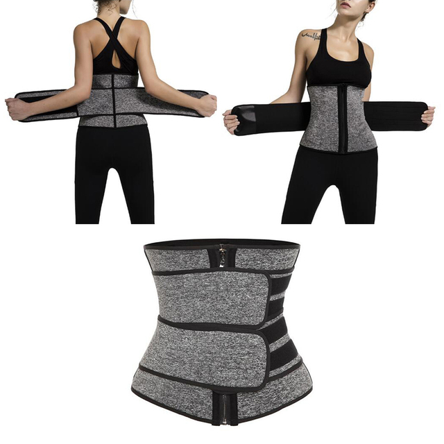 Waist Trainer Cincher Trimmer Sweat Belt Men Women Shapewear with Double Strap