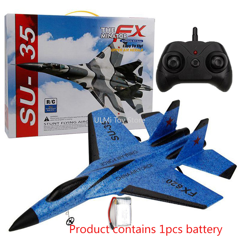 New SU-35 RC Remote Control Airplane 2.4G Remote Control Fighter Hobby Plane Glider Airplane EPP Foam Toys RC Plane Kids Gift