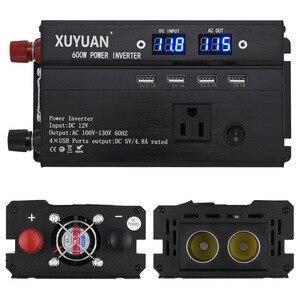 Power inverter with 5000 w 3000w peak auto power inverter DC 12 v to AC 110 v 4x USB port RV converte