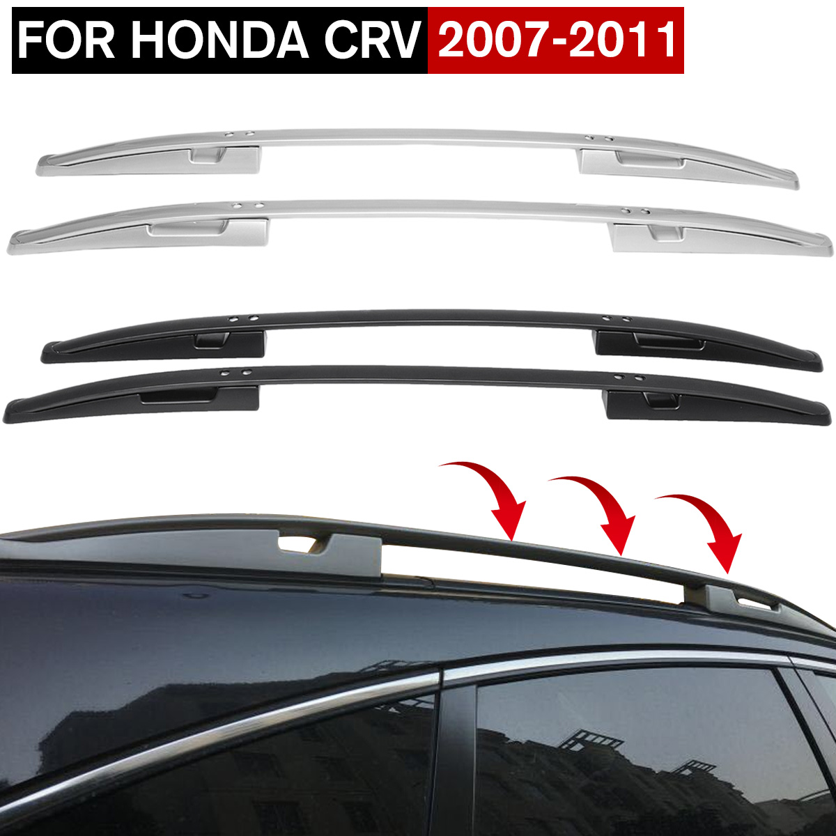 NEW 1Set Aluminum Alloy Roof Rack With Screws And Wrench Baggage Holder For Honda For CR-V CRV 2007 2008 2009 2010 2011