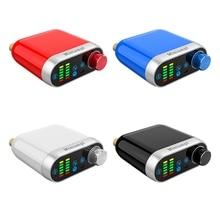 Bluetooth 5.0 de alta fidelidade tpa3116 amplificador potência áudio estéreo digital amp board 50 w * 2 estéreo com áudio indicador música espectro