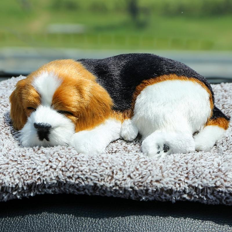 8 ModelsLarge Plush Toy Simulation Dog Doll Sleeping Dog Car Decoration Children Gift Photography props Christmas decoration