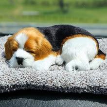 8 modelslarge brinquedo de pelúcia simulação cão boneca dormir cão decoração do carro crianças presente fotografia adereços decoração natal
