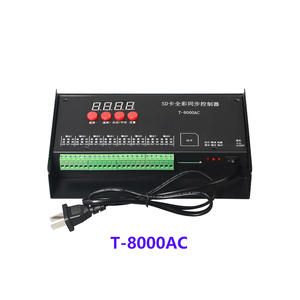 High quality T8000 AC110-240V SD Card Pixel Controller for WS2801 WS2811 LPD8806 MAX 8192 Pixels