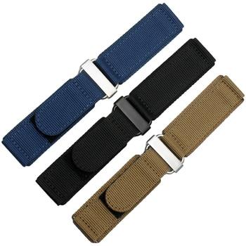 New style sport watchband for S-eiko NO.5 men's bracelet 22mm 24mm Velcro nylon watch strap armygreen black