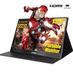 Портативный монитор 15,6 ''4k lcd hd HDMI usb type C дисплей для ПК ноутбук телефон PS4-switch-XBOX 1080p игровой монитор ips экран