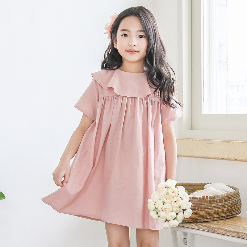 2020 <font><b>summer</b></font> doll collar <font><b>girls</b></font> <font><b>dress</b></font> sweet cute kids <font><b>dress</b></font> pink princess party frocks <font><b>for</b></font> teen <font><b>girls</b></font> 6 8 10 <font><b>12</b></font> 14 <font><b>years</b></font> <font><b>old</b></font> image