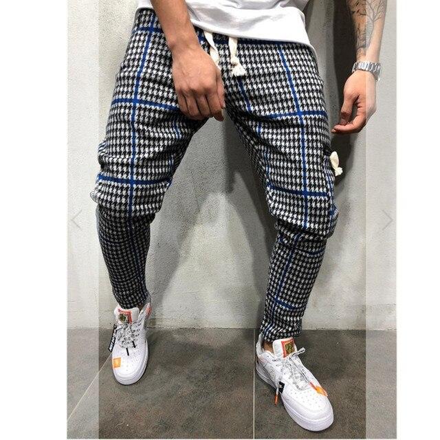 Casual Plaid Ankle-Length Pants Men Trousers Hip Hop Jogger Pants Men Sweatpants Japanese Streetwear Men Pants 2019 New Uncategorized Fashion & Designs Men's Fashion