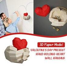 Wall-Decoration Paper 3d-Model DIY Manual Handmade Valentine's-Day-Romantic Creative