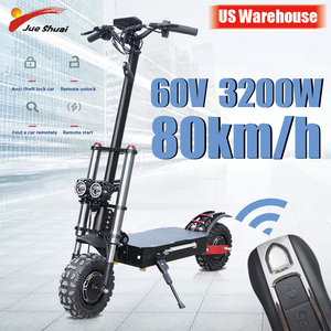 Image 1 - Powerful Electric Scooter 60V3200W 11inch Off Road Fat tire Dual Motor Wheel e scooter Foldable Adults Scooters Long Hoverboard