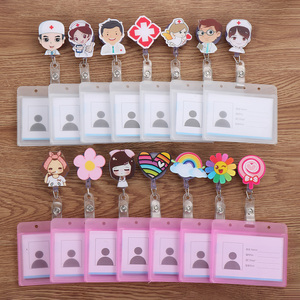 New Nurse Doctor Retractable Badge Reel with Horizontal Style Aluminum ID Business Card Work Card Badge Holder Office Supplies