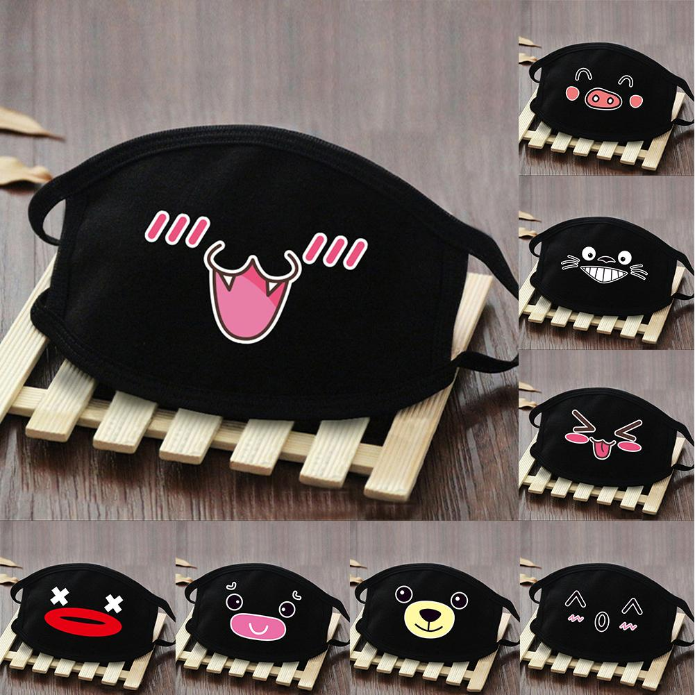 Cute Pattern Breathable Reusable Adult Anti Dust Haze Cotton Face Mouth Mask Wind And Dust Resistant Virus