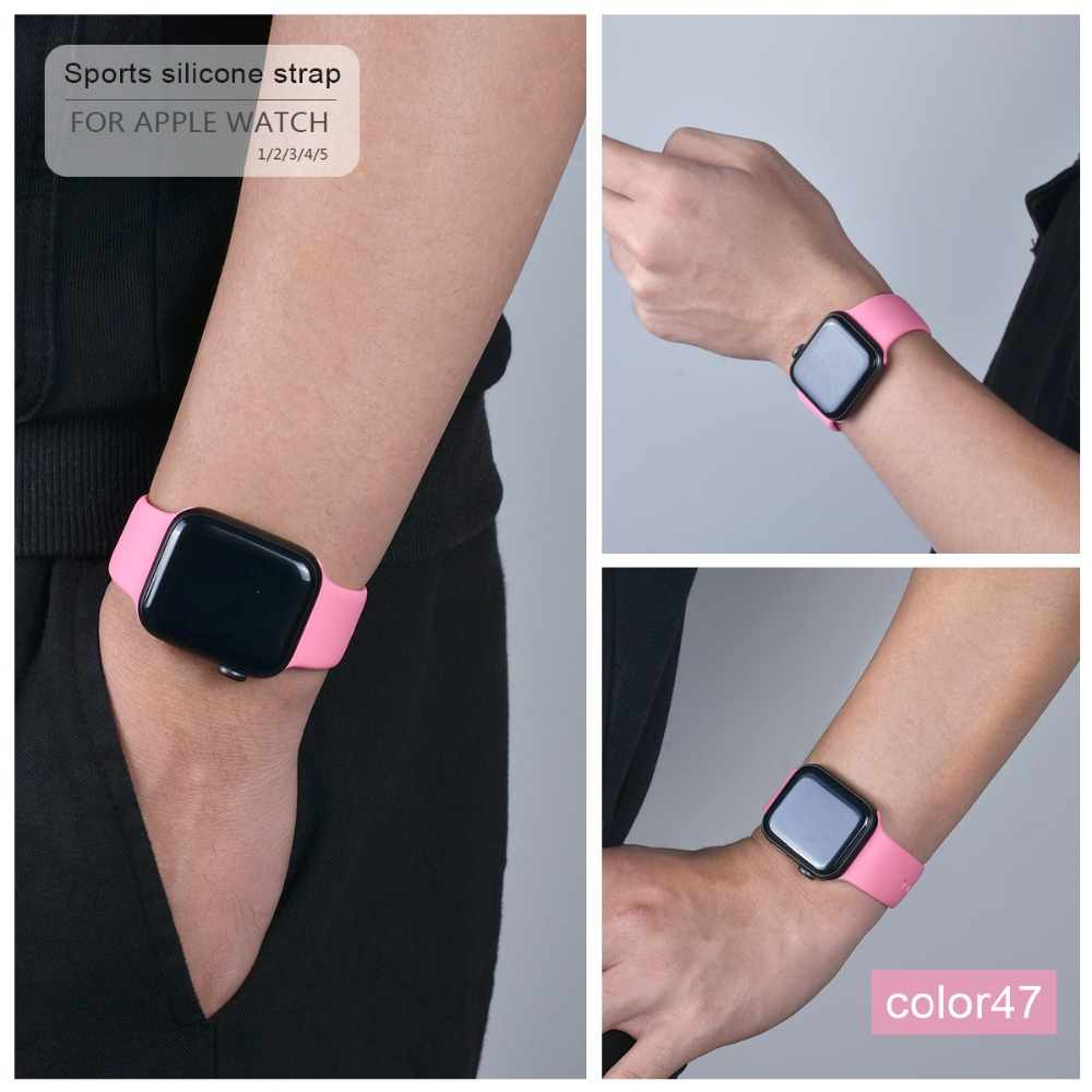 Soft Silicone Band for Apple Watch 116