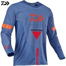 Новая летняя одежда для дайв Рыбалка Джерси Мужская одежда для рыбалки анти-УФ быстросохнущая дышащий с длинным рукавом рыболовная рубашка