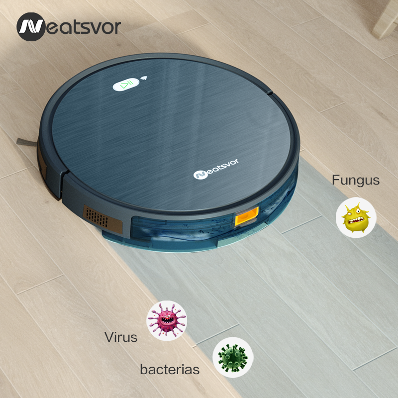 NEATSVOR X500 Robot Vacuum Cleaner 3000PA Poweful Suction 3in1 pet hair home dry wet mopping cleaning robot Auto Charge vacuum 4