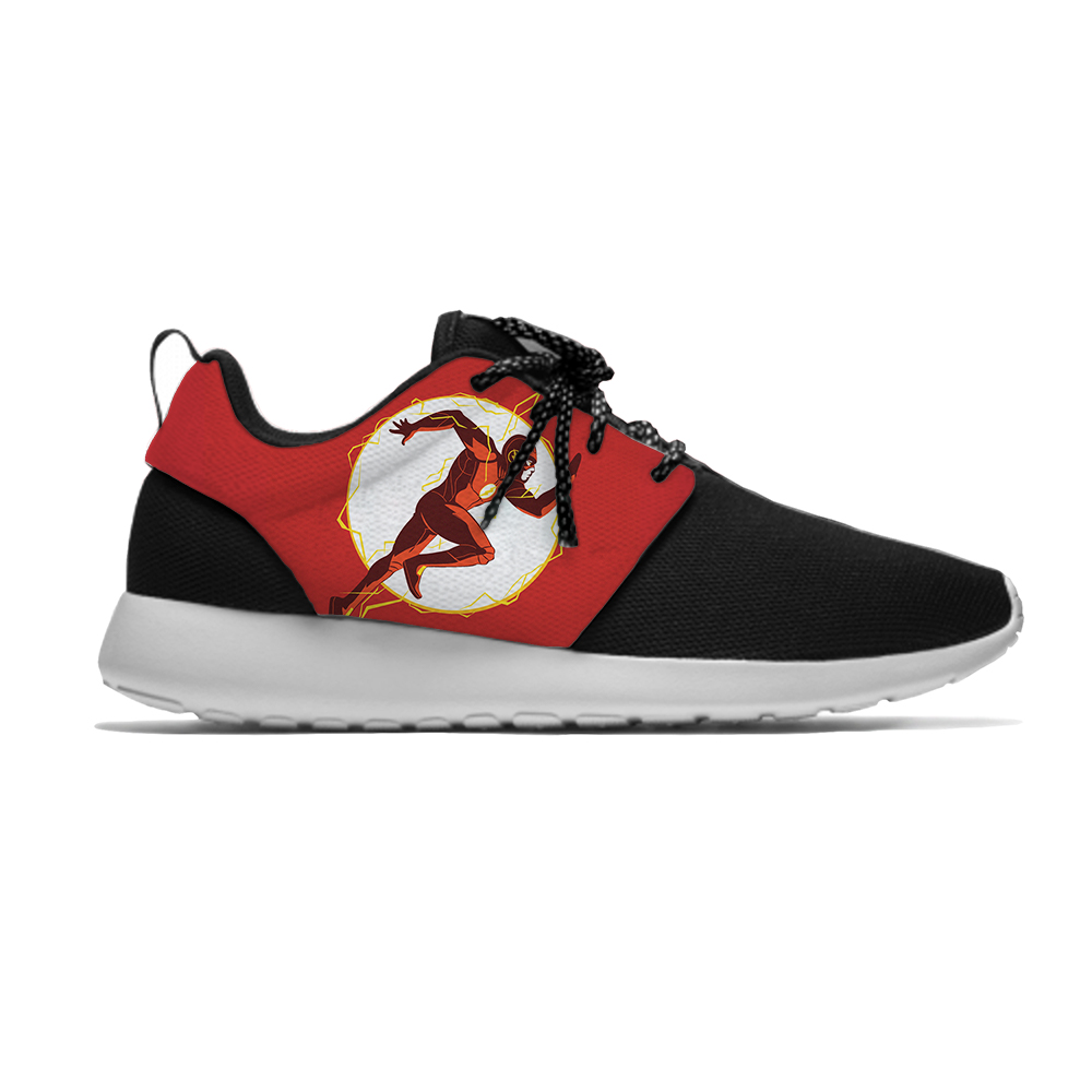 Flash The Superhero Cartoon Cool Funny Fashion Kids Sport Running Shoes Casual Breathable 3D Print Sneakers Boys Children Girl